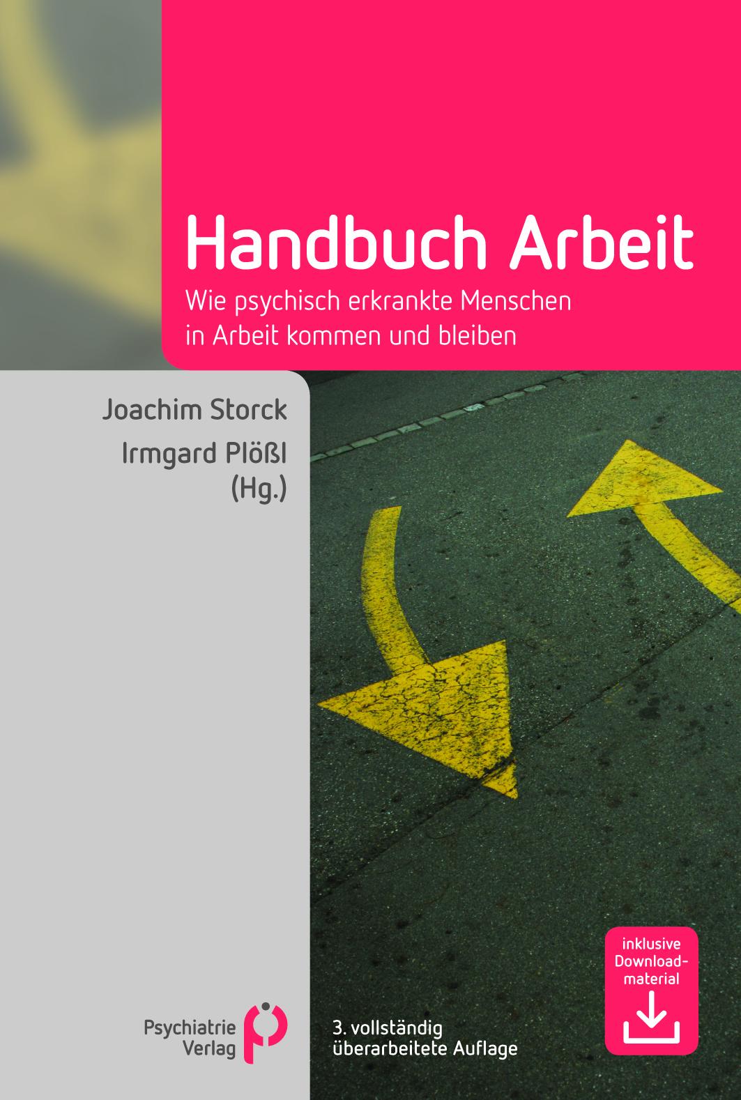 "Buchcover ""Handbuch Arbeit"" im Psychiatrie Verlag"