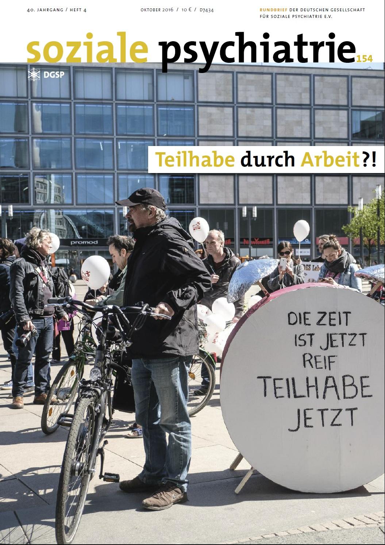 """Cover """"Soziale Psychiatrie"""" Zeitschrift 2016/4"""
