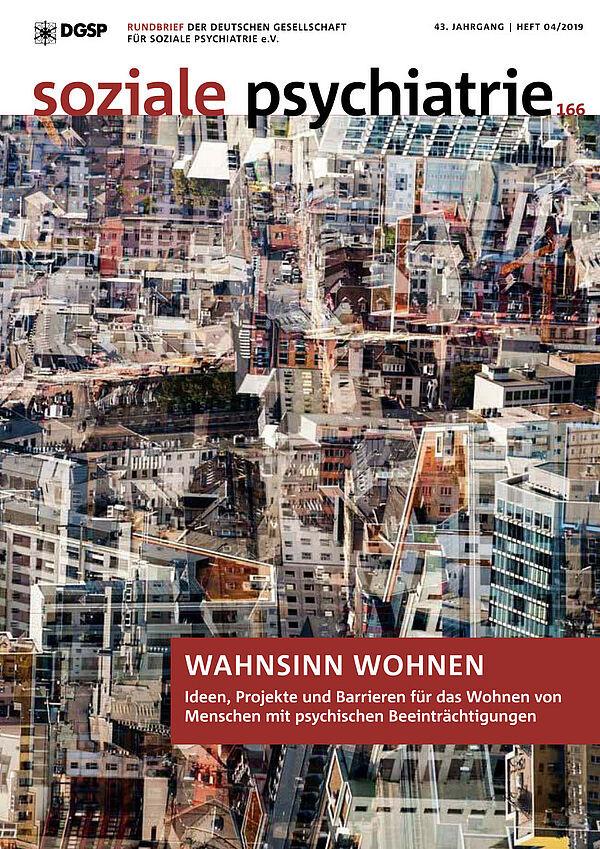 """Cover """"Soziale Psychiatrie"""" Zeitschrift 2019/4"""